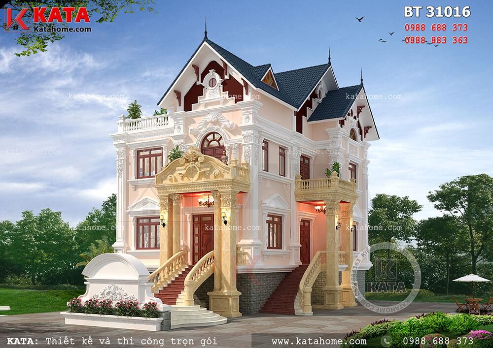 Thiết kế biệt thư đẹp 3 tầng tân cổ điển đẹp tại Nam Định – Mã số: BT 31016