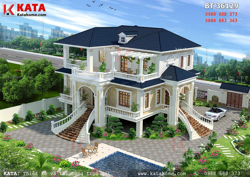Biệt thự nhà vườn 2 tầng đẹp theo kiểu nhà sàn – Mã số: BT 36129
