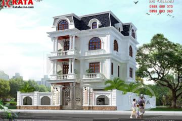 Mẫu biệt thự 4 tầng tân cổ điển đẹp tại Thanh Hóa - BT 41032
