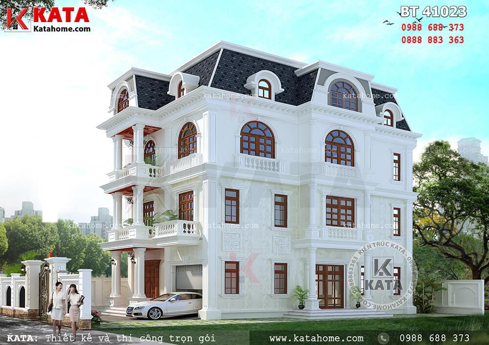 Một góc nhìn của mẫu biệt thự tân cổ điển 4 tầng đẹp tại Thanh Hóa