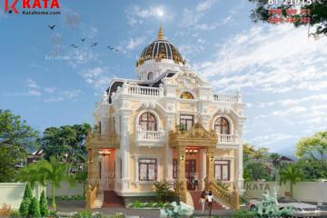 Phối cảnh chi tiết của mẫu nhà biệt thự 2 tầng kiểu lâu đài tân cổ điển tại Hải Dương - Mã số: LD 21015