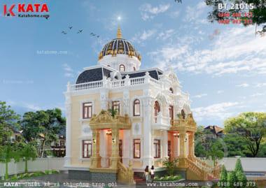 Vẻ đẹp hoàn hảo của mẫu nhà biệt thự 2 tầng được tạo nên nhờ các điểm nhấn và nguyên vật liệu cao cấp