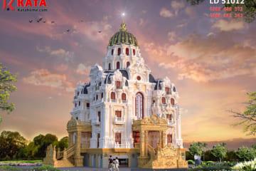 Vẻ đẹp xa hoa, lộng lẫy của mẫu dinh thự lâu đài 5 tầng được thể hiện một cách trọn vẹn thông qua phong cách kiến trúc Pháp cổ điển