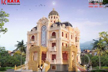 Phối cảnh 3D chi tiết về mẫu biệt thự lâu đài cổ điển 4 tầng tại Nam Định - Mã số: LD 46012
