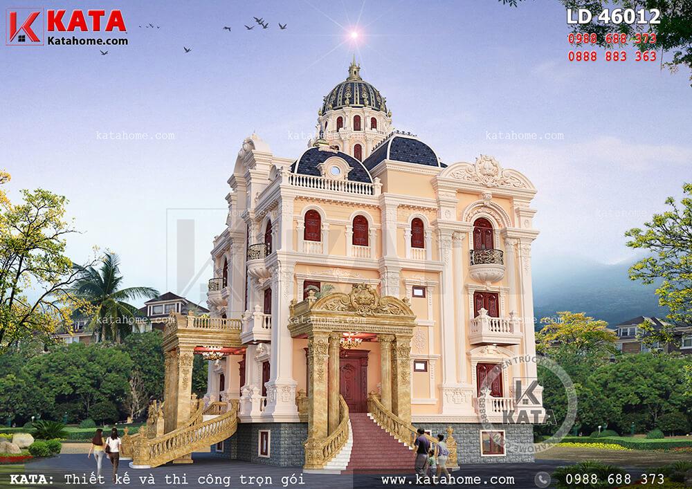 Vẻ đẹp hào nhoáng cũng đã nói lên đẳng cấp của mẫu biệt thự lâu đài cổ điển 4 tầng