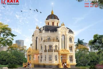 Phong cách kiến trúc Pháp được thể hiện một cách rõ rệt thông qua từng chi tiết trang trí của mẫu biệt thự lâu đài 3 tầng kiến trúc Pháp