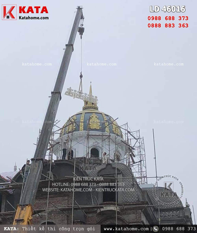 Quá trình đắp mái dành cho mẫu biệt thự lâu đài 3 tầng kiến trúc Pháp