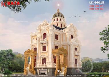 Kiến trúc cổ điển giúp nâng tầm đẳng cấp cho mẫu lâu đài dinh thự đẹp 4 tầng
