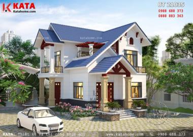 Nhà biệt thự 2 tầng đẹp mái thái tại Hưng Yên - Mã số BT 21035