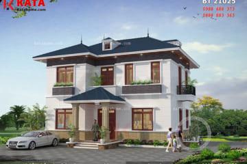 Phối cảnh chi tiết toàn cảnh mẫu biệt thự 2 tầng mini tại Hà Tĩnh - Mã số: BT 21025