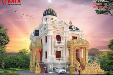 Thi công lâu đài dinh thự 3 tầng tại Sơn La - Mã số: LD 36011