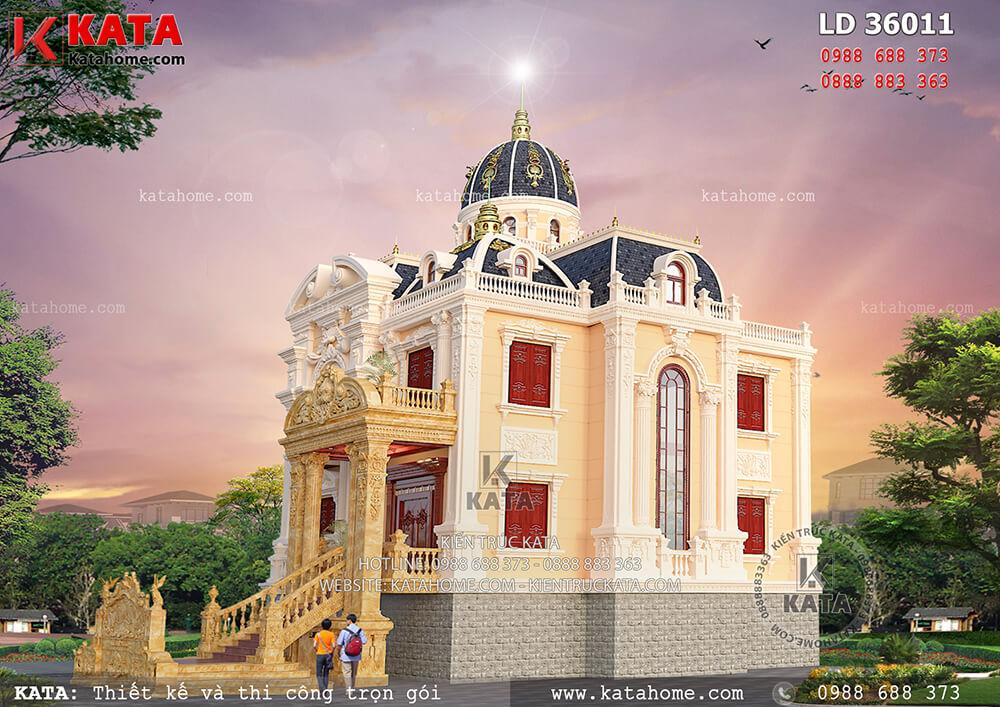 Một góc nhìn của bản thi công lâu dài dinh thự 3 tầngđẹp tại Sơn La