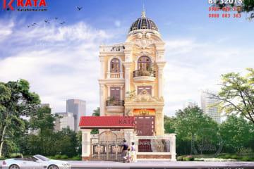 Phối cảnh 3D chi tiết về mẫu biệt thự lâu đài 3 tầng kiểu Pháp tại Thanh Hóa - Mã số: BT 32018