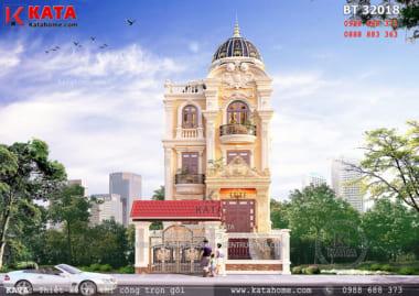 Mẫu nhà 3 tầng kiểu Pháp tại Thanh Hóa – Mã số: BT 32018