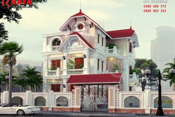 Phối cảnh của mẫu biệt thự 3 tầng mái Thái tại Hưng Yên - Mã số: BT 31032