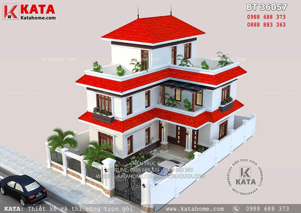 Thiết kế biệt thự 2 tầng 1 tum đẹp hiện đại tại Quảng Ninh – Mã số: BT 36057