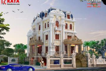 Mẫu thiết kế biệt thự 4 tầng tân cổ điển đẹp tại Hà Nội sang trọng và đẳng cấp dưới mọi góc nhìn