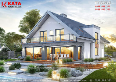 Mẫu biệt thự mái thái 2 tầng đẹp tại Đà Nẵng - Mã số: BT 13215