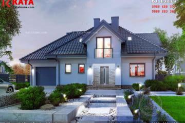 Mẫu biệt thự mái thái 2 tầng đẹp tại Nghệ An - Mã số: BT 13210