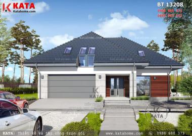 Phối cảnh 3D chi tiết về mẫu nhà biệt thự cấp 4 mái Thái tại Thanh Hóa - Mã số: BT 13208