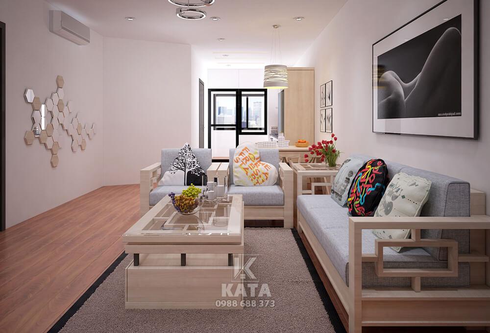 Mẫu trang trí phòng khách đẹp bằng chất liệu gỗ đẳng cấp