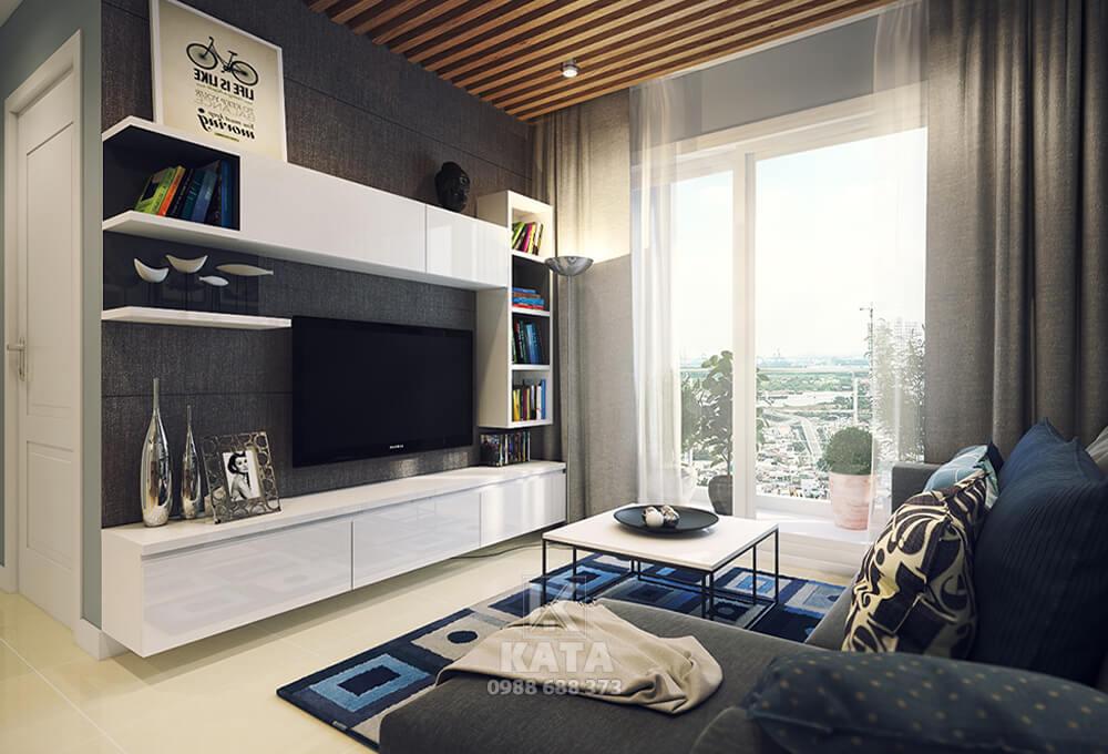 Thiết kế phòng khách đơn giản mà đẹp dành cho không gian có diện tích nhỏ