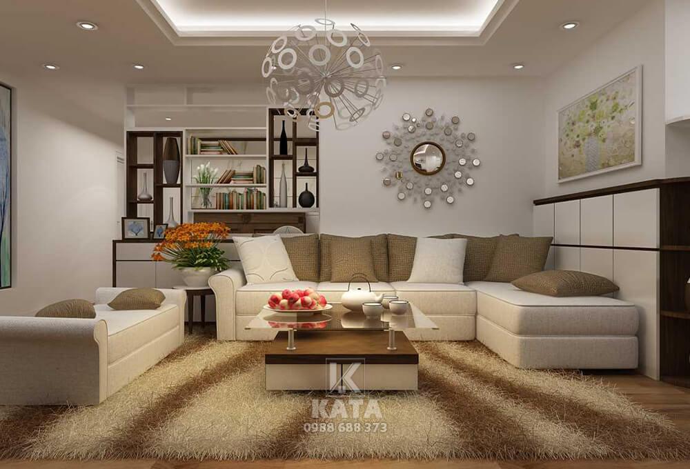 Phòng khách đẹp cho nhà biệt thự được trang trí bởi các phụ kiện lạ mắt
