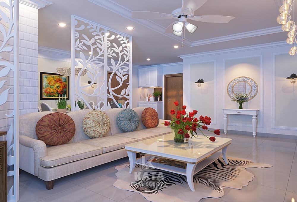 Mẫu trang trí phòng khách đẹp theo phong cách kiến trúc hiện đại