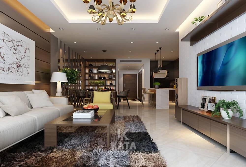 Thiết kế phòng khách đẹp cho nhà chung cư