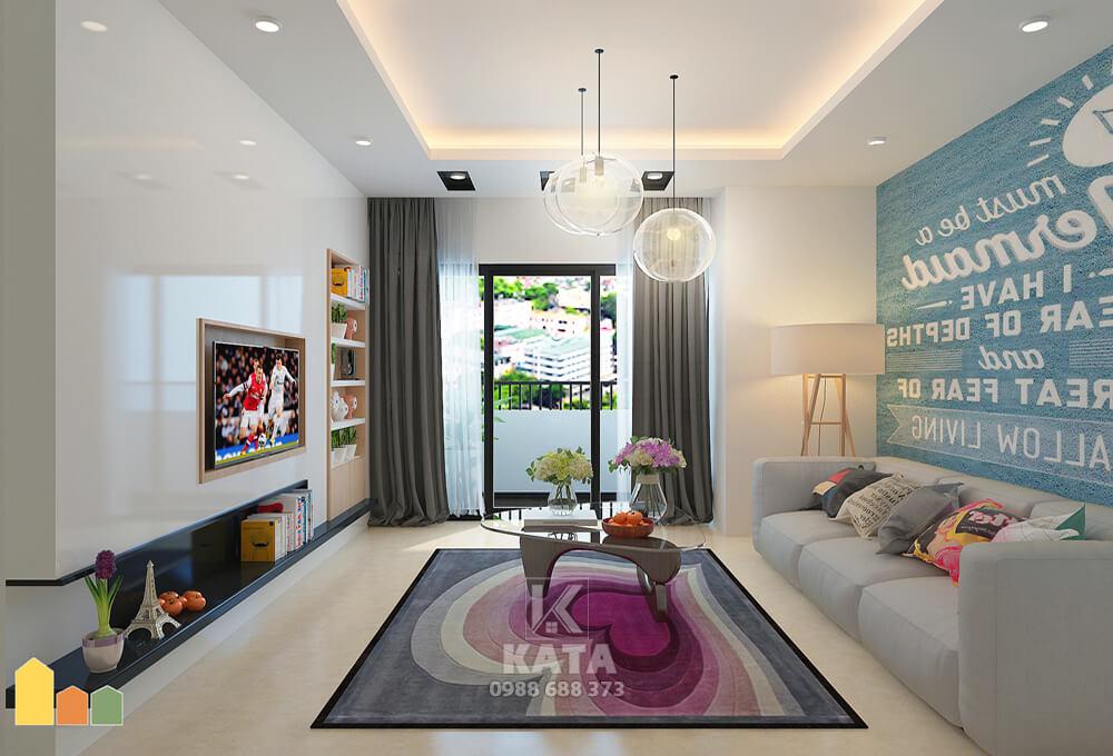 Thiết kế phòng khách nhà ống 5m theo phong cách hiện đại