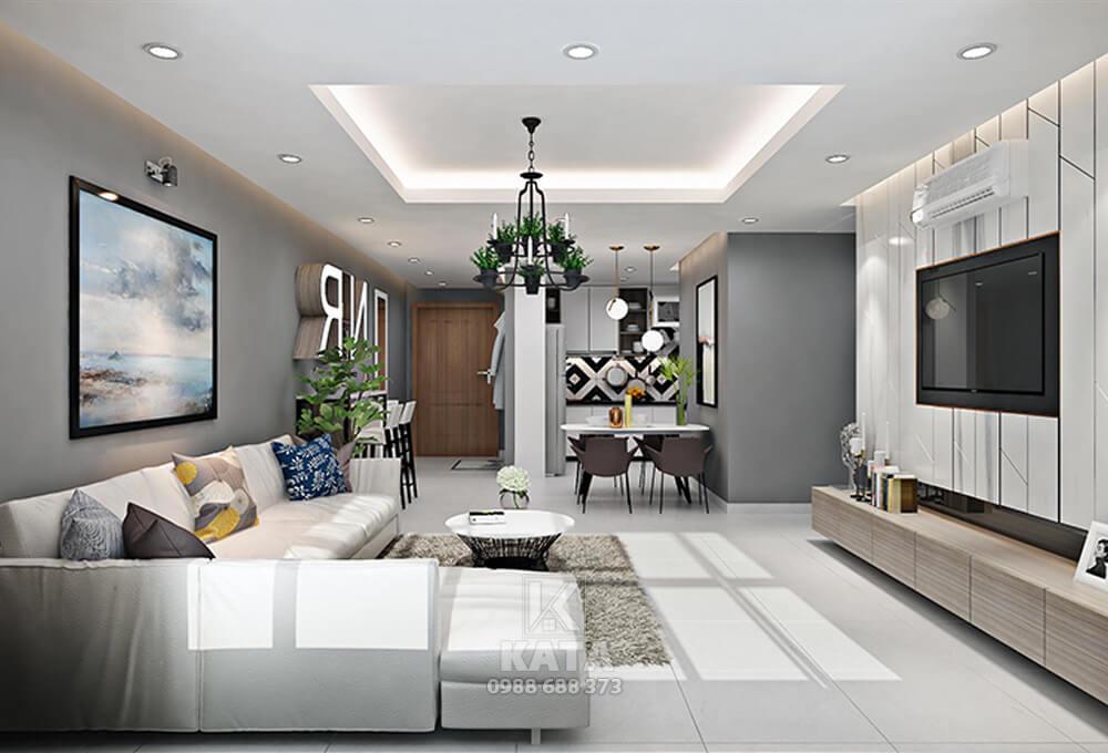 Nội thất phòng khách đẹp cho nhà chung cư