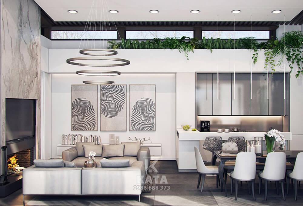 Mẫu trang trí phòng khách đẹp được thiết kế thanh lịch, ưng mắt ngay từ cái nhìn đầu tiên