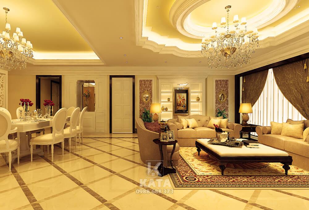 Mẫu phòng khách đẹp cho căn hộ chung cư cao cấp