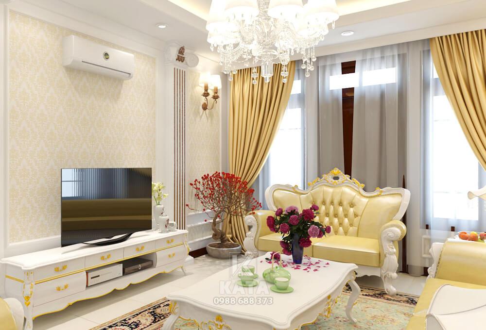 Đơn giản, tinh tế cùng những món đồ đậm chất hoàng gia Pháp đã mang đến một không gian phòng khách đẹp mê hồn