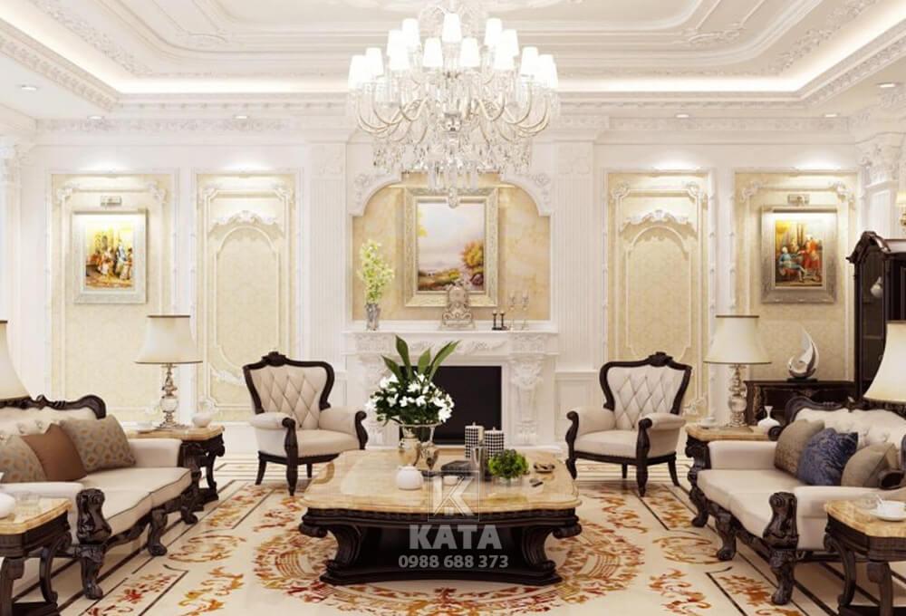 Không gian phòng khách mang phong cách kiến trúc hiện đại giúp nâng tầm đẳng cấp cho công trình nhà ở