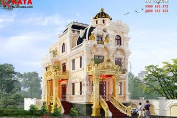 Phối cảnh 3D chi tiết về mẫu thiết kế biệt thự kiểu lâu đài 3 tầng tại Thanh Hóa - Mã số: BT 32016