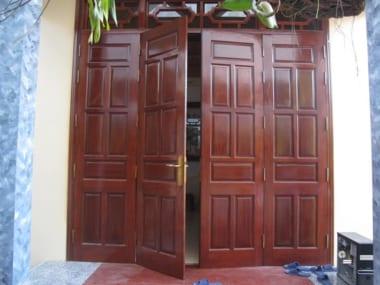 Kích thước lỗ ban cửa đi với cửa đi 4 cánh mở quay (2 cánh chính, 2 cánh phụ)
