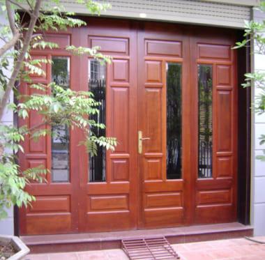 Kích thước lỗ ban cửa đi với cửa đi 4 cánh mở quay (4 cánh bằng nhau hoặc lệch nhau không nhiều)
