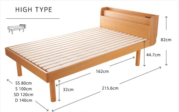 Kích thước thiết kế giường đơn cỡ lớn