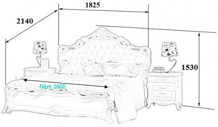 Kích thước thiết kế giường ngủ King
