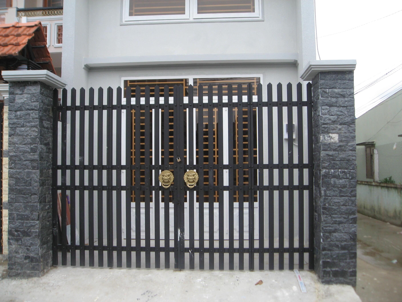 Kích thước lỗ ban cửa cổng dành cho hệ cửa 2 cánh cân bằng
