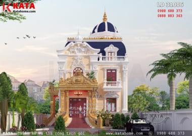 Không gian mặt tiền tuyệt đẹp của mẫu biệt thự lâu đài 2 tầng cổ điển tại Hà Nội - Mã số: LD 31006