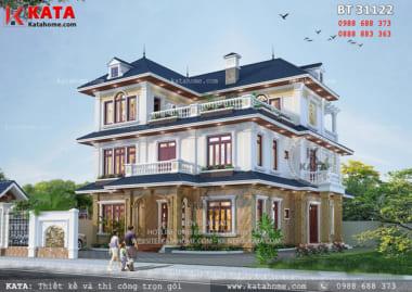 Mẫu thiết kế biệt thự 3 tầng mái thái tại Thanh Hóa BT 31122