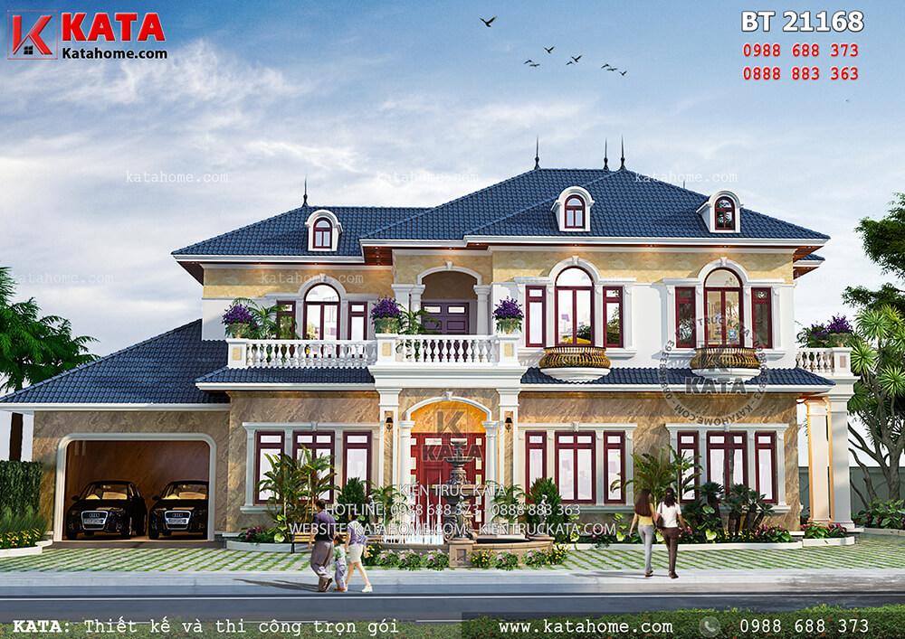 Mẫu biệt thự nhà vườn 2 tầng tân cổ điển đẹp tại Thanh Hóa – Mã số: BT 21168
