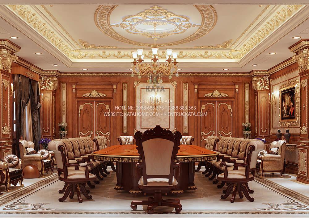 Các món đồ dùng để trang trí, thiết kế nội thất phòng họp được lựa chọn theo cùng một phong cách kiến trúc - Mã số: NT 81012