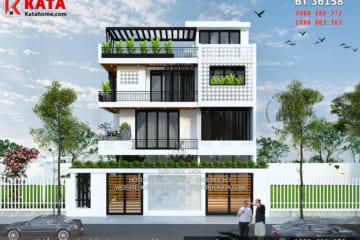 Mẫu thiết kế nhà 3 tầng 1 tum hiện đại tại Nghệ An – Mã số: BT 36158
