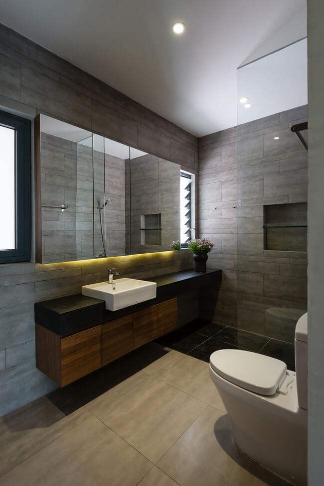 Phối cảnh phòng vệ sinh của mẫu nhà biệt thự phố 3 tầng 1 tum tại Phú Thọ - Mã số: BT 36062 (1)