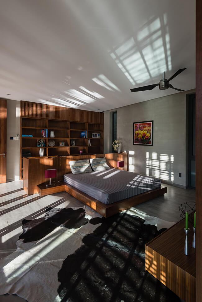 Không gian phòng ngủ của mẫu nhà biệt thự phố 3 tầng tại Phú Thọ - Mã số: BT 36062