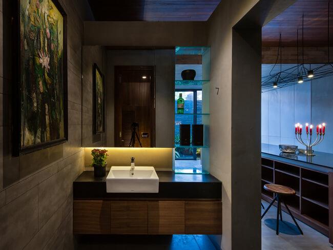 Phối cảnh phòng vệ sinh của mẫu nhà biệt thự phố 3 tầng 1 tum tại Phú Thọ - Mã số: BT 36062 (2)