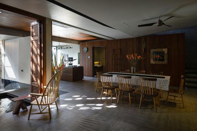 Không gian phòng bếp và phòng ăn của mẫu nhà biệt thự phố 3 tầng tại Phú Thọ - Mã số: BT 36062